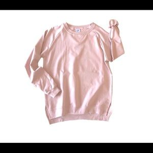 Tops - Little Bibsy Adult Women's Blush Pullover